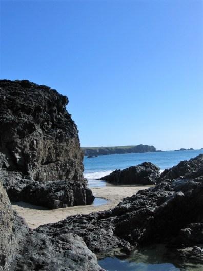 explore between the towering rocks
