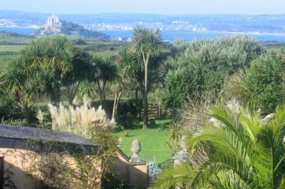 view over garden to the sea - Ednovean Farm