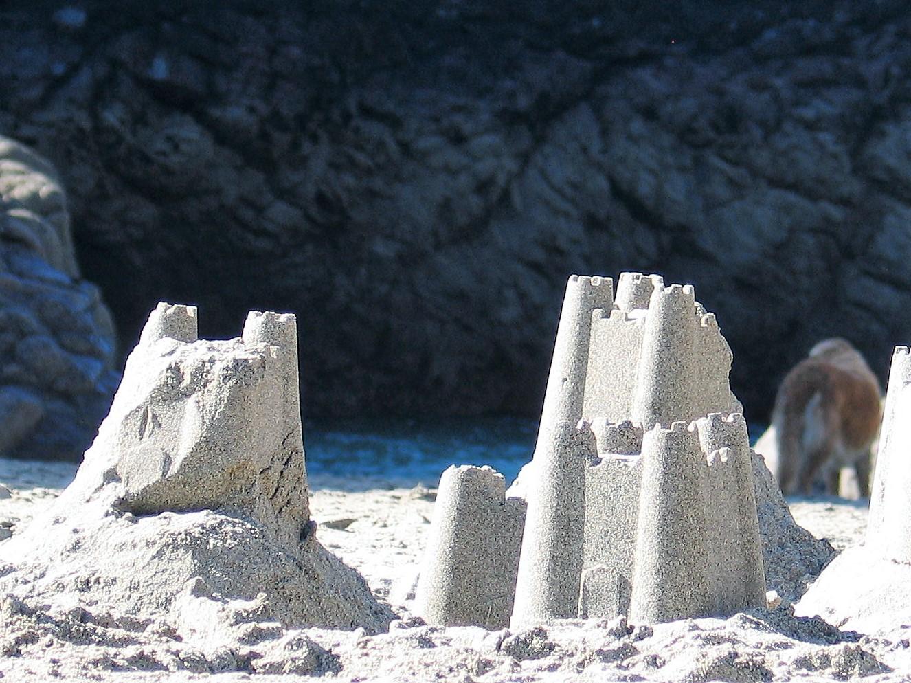 abandoned sand castle