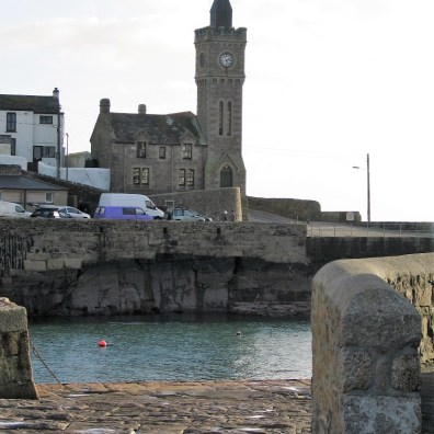 View to the institute across Porthleven Harbour