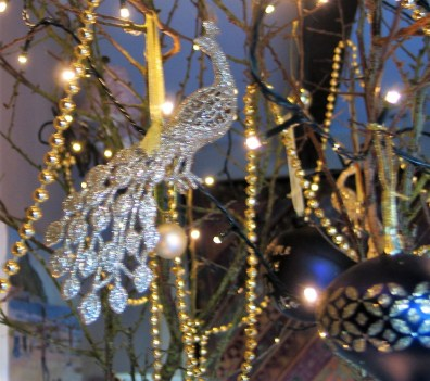 Christms decorations - gold peacock