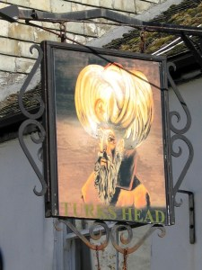 Traditional Cornish pub sign