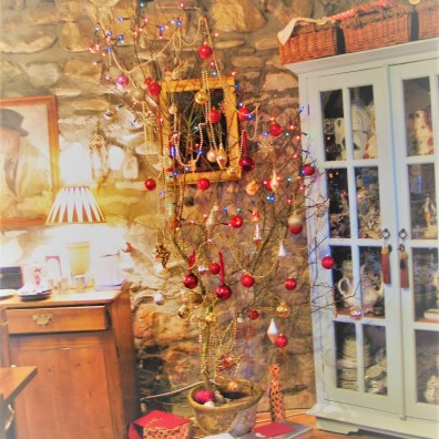 Thorn tree with Christmas baubles