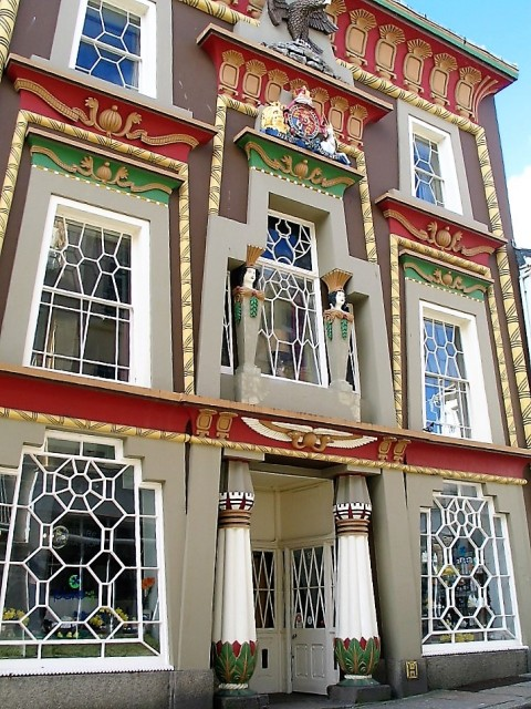 The flamboyant Egyptian house in Penzance