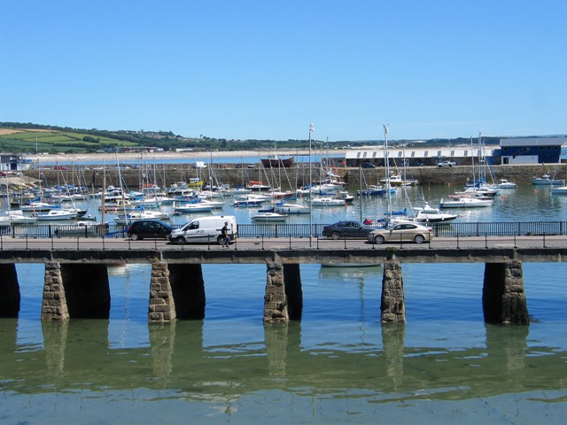 The Ross Bridge carries cars between the harbours of Penzance