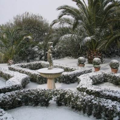 Snow in the formal parterre