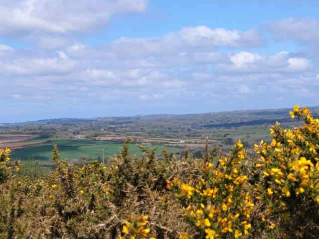 View down across the landscape as I climbed Godolphin Hill