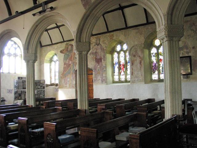 Frescoes in Breage church