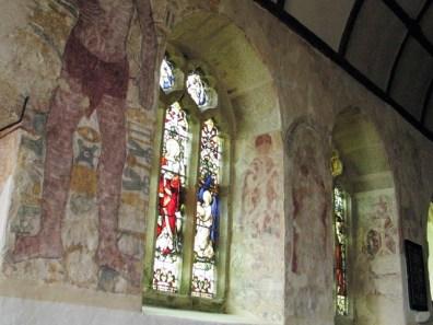 Frescoes haunt the plasterwork