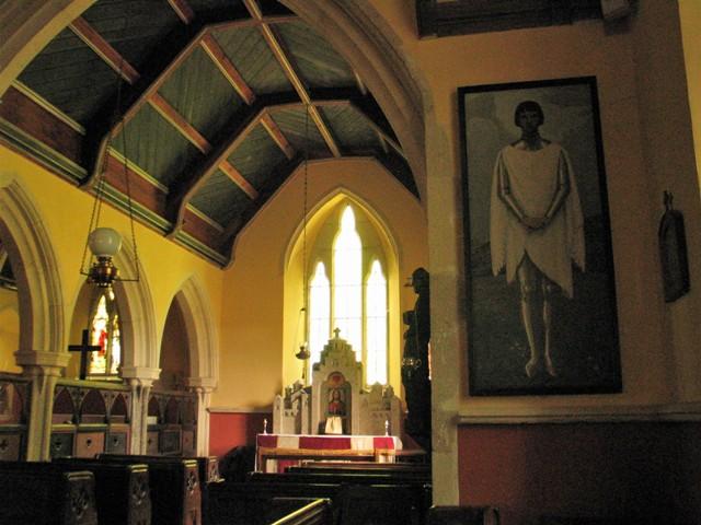 Church art - st joan - st hilary church