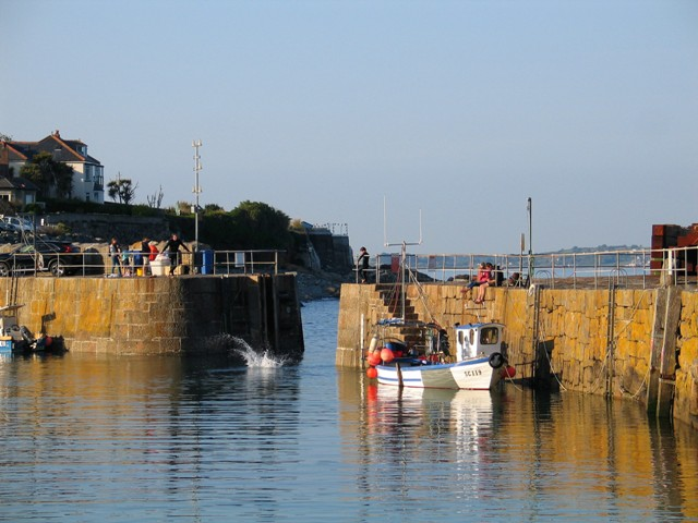 Mousehole harbour entrance
