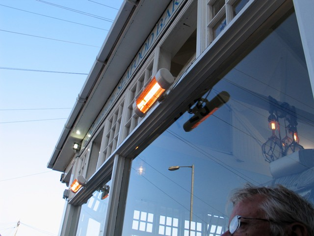 Fish restaurant facade close to Newlyn harbour - Mackerel Sky