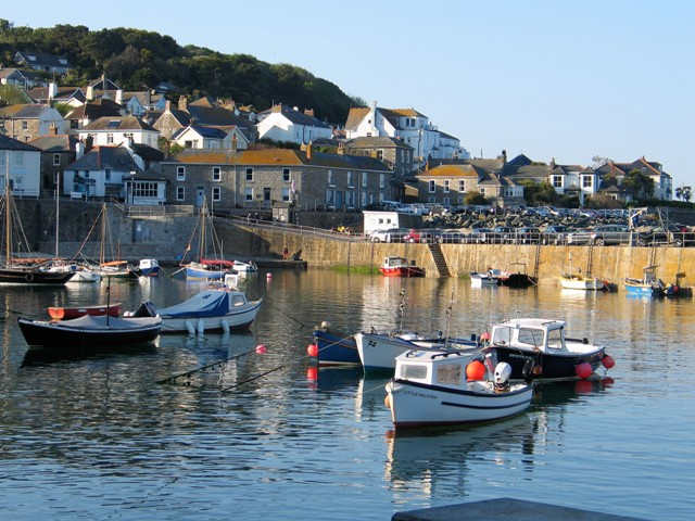 Last of the days sunshine on Mousehole harbour
