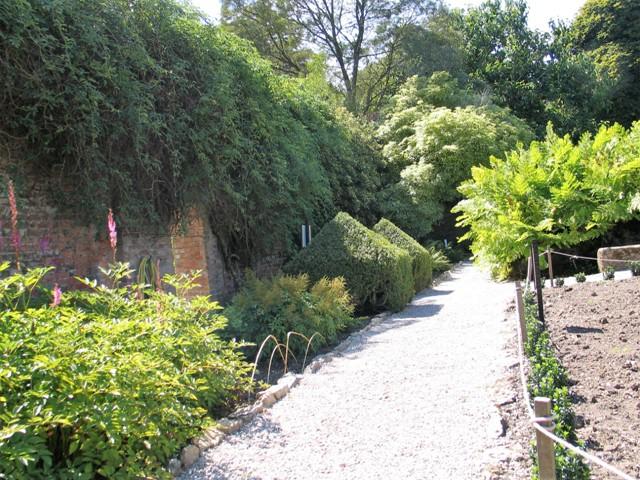 Immaculate paths in a kitchen garden - Trengwainton