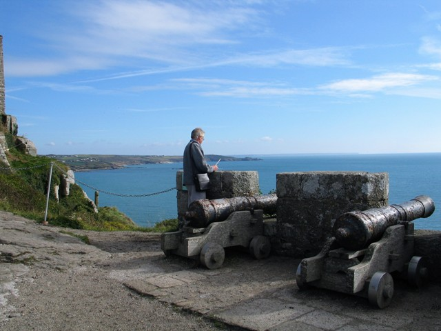 We enjoyed seeing the amazing views on our visit to St Michael's MountCanon with Cudden Point in the distance