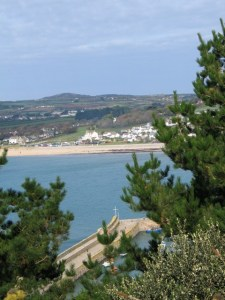 Marazion on the mainland seen from St Michael's Mount