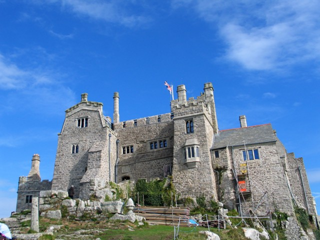 Approaching the Tudor Doorway into St Michael's Mount Castle