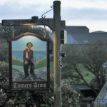 pub sign at dusk - Tinners Arms