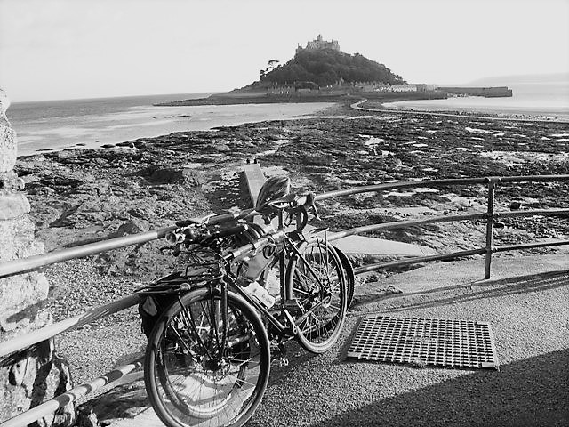Explore West Cornwall - Bicycles by St Michael's Mount causeway