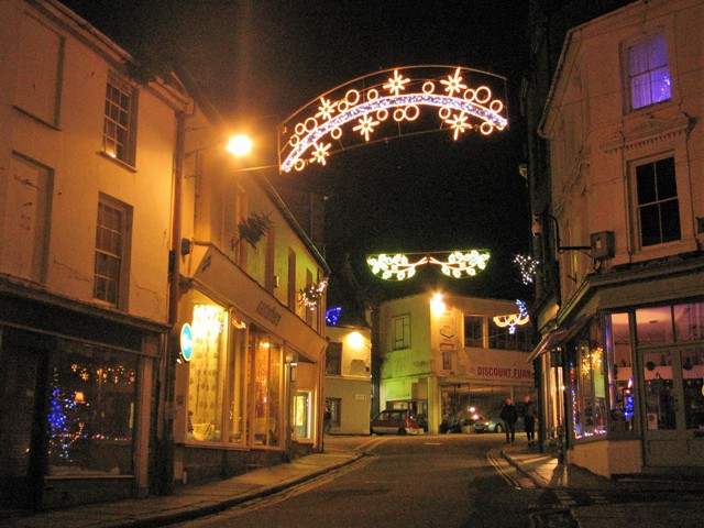Chapel street has a more traditional feel to the Christmas lights