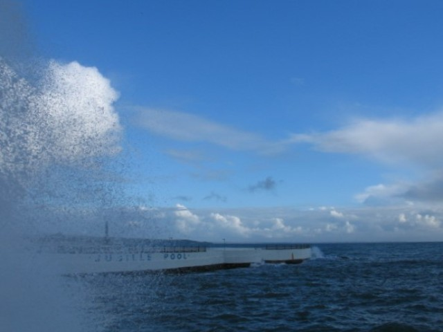 Sea spray on a winter's day
