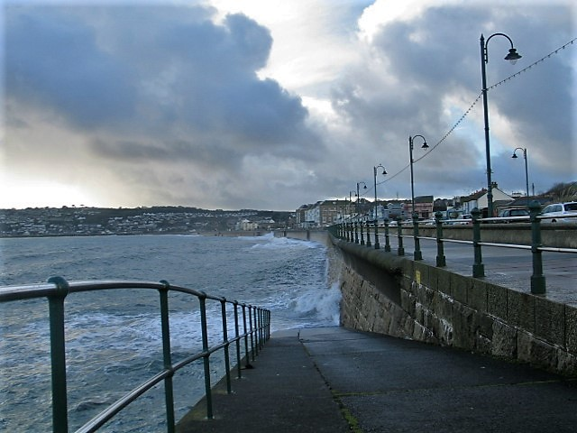slipway to sea - Penzance promenade