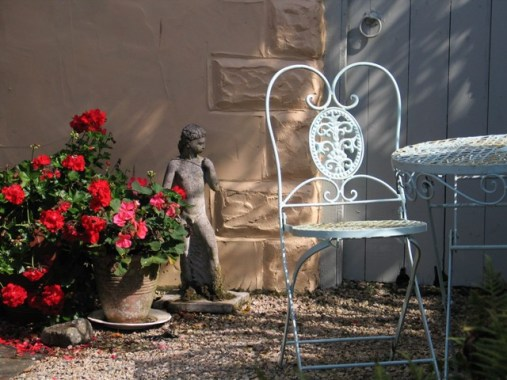 Private garden courtyard