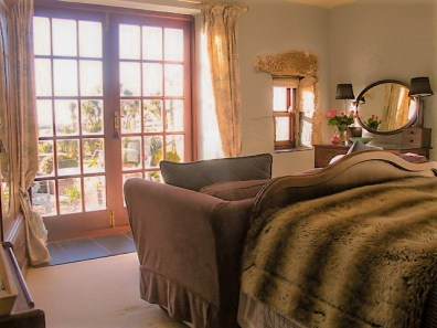 Luxury bedroom with french doors