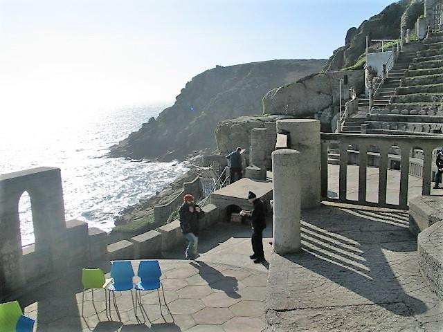Minack theatre above the sea