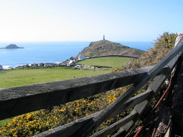 looking over gate to Cape Cornwall
