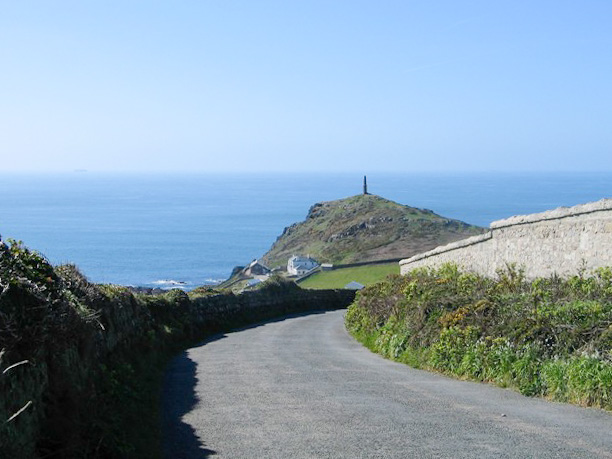 Road approaching Cape Cornwall
