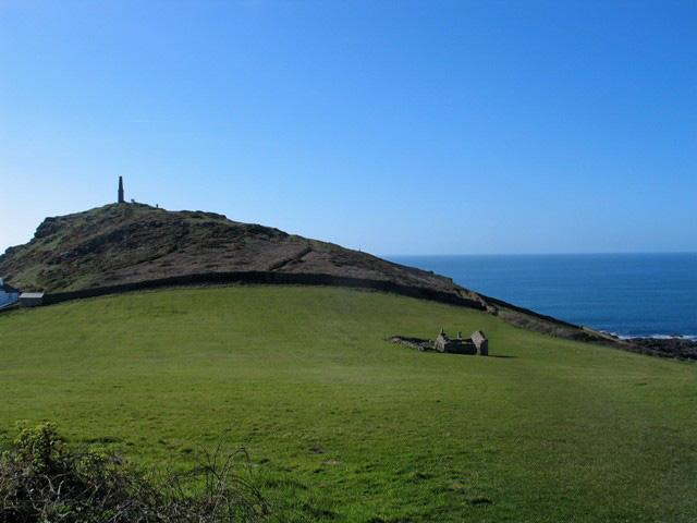 Granite headland rises above the sea - cape cornwall