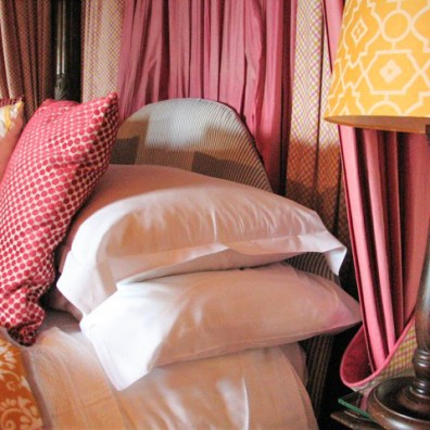 Luxury accommodation - bed & pillows