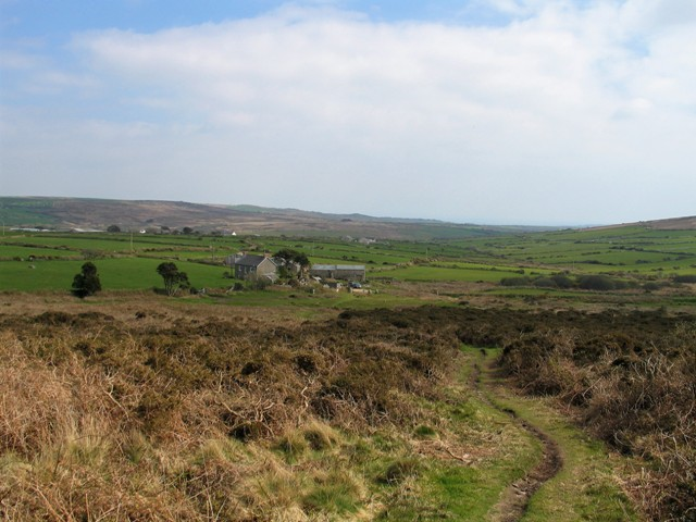 Footpath across downland
