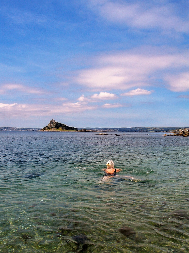 Hello summer time for a swim in the clear seas below St Michael's Mount