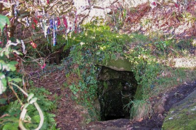 Sancreed holy Well - entrance to chamber