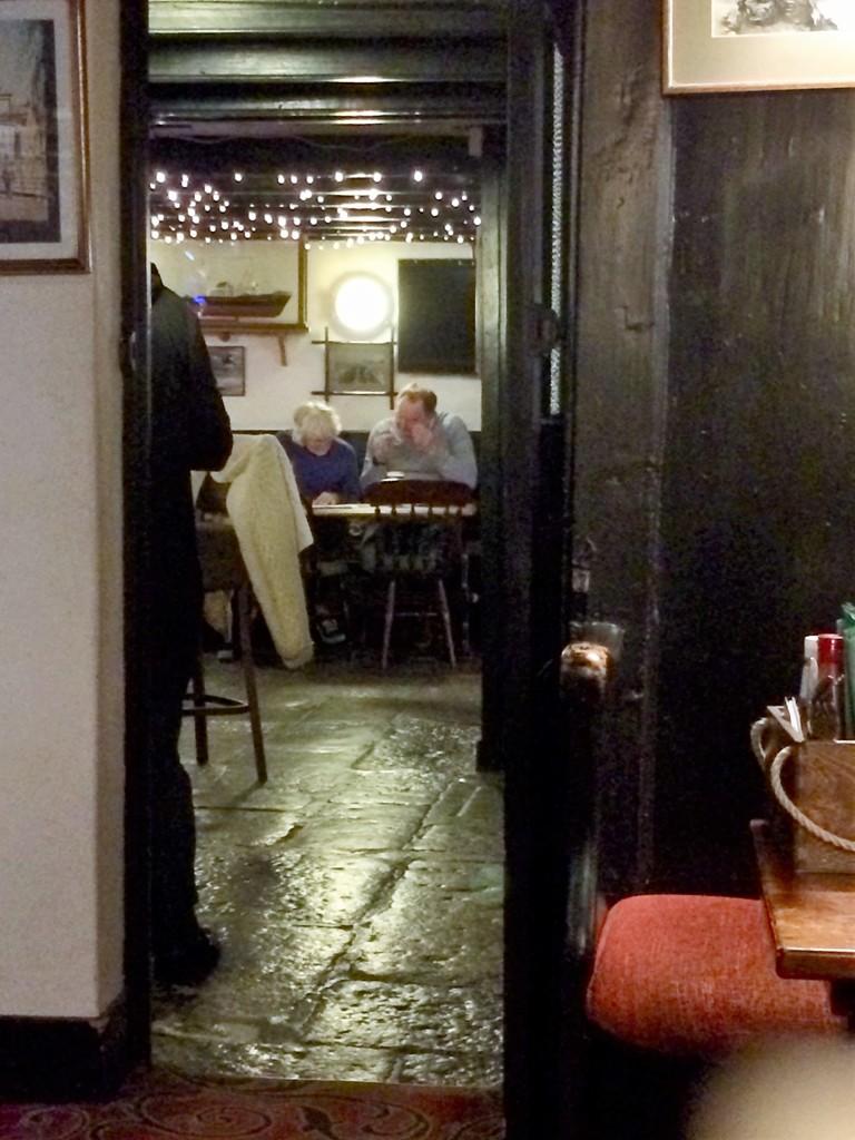 Winter flagstones - The ship Inn Mousehole