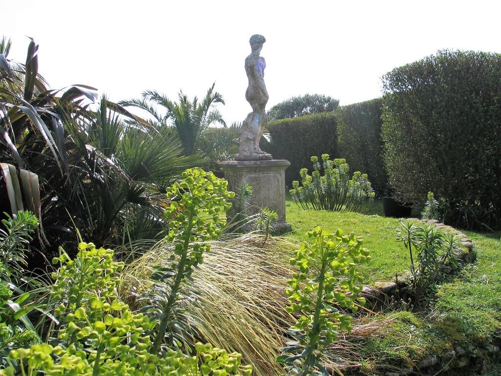 Spring brings a renaissance to the Italian Garden with lime green euphorbias