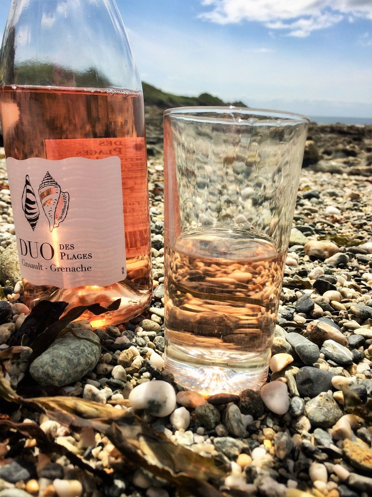 Low tide on a Cornish cove and we toasted our anniversary