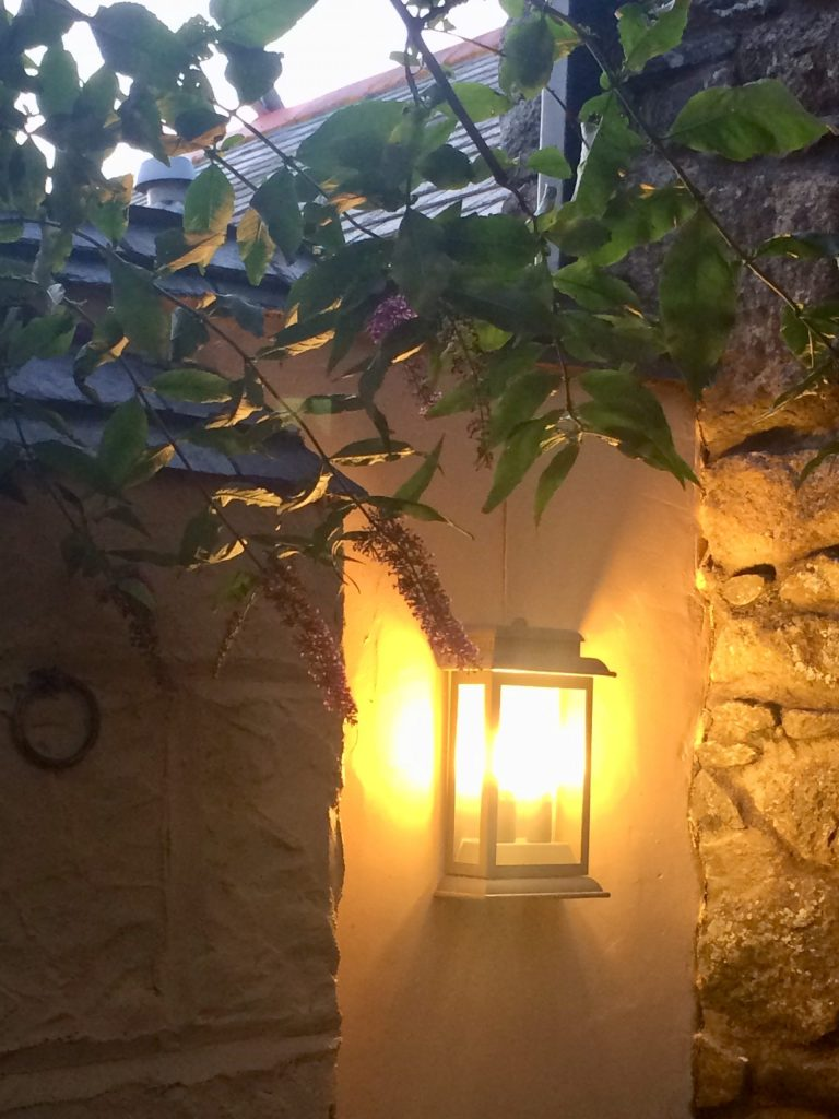Mediterranean style outdoor light for a warm welcome