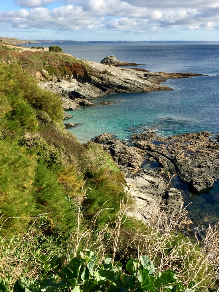 Spectacular sea views, near Prussia Cove, that was once a smugglers haunt