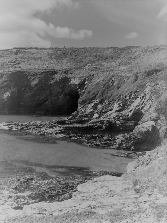 Waiting sea caves beyond Prussia at Pixies Cove - a short story