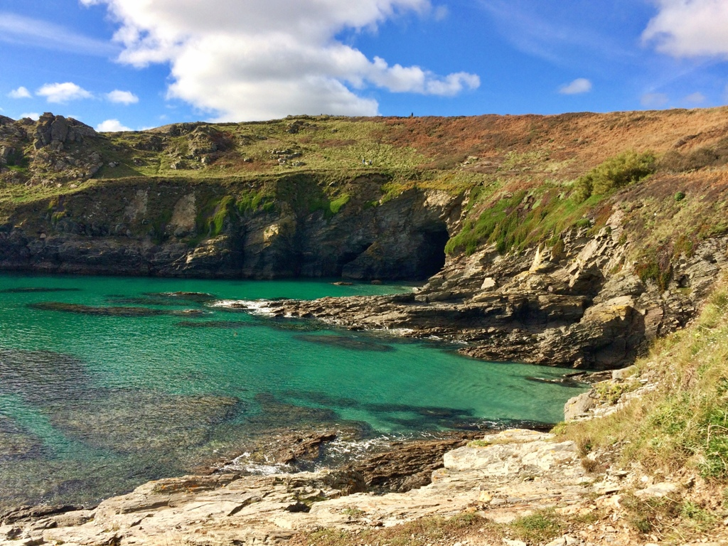Piskies cove is wonderfully secluded in the lea of little Cudden Point
