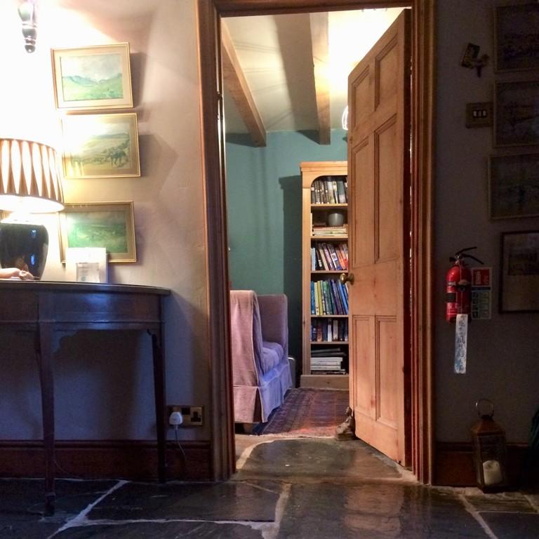 Country home décor - slate flagged hallway
