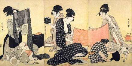 Image result for 針仕事 喜多川歌麿