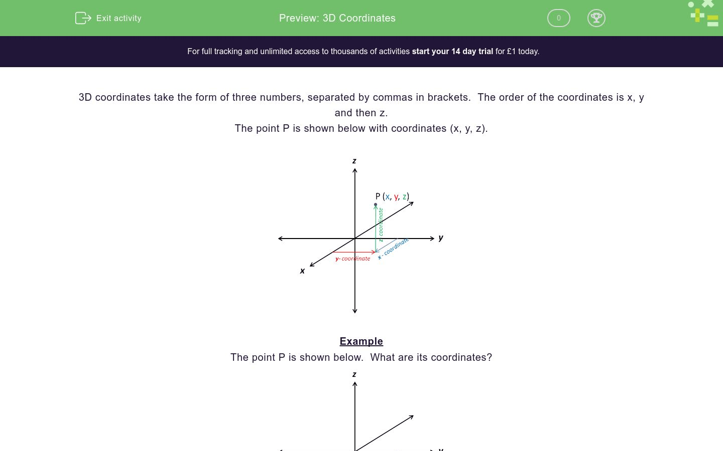 3d Coordinates Worksheet