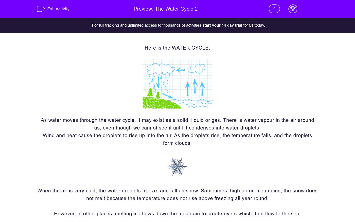 The Water Cycle 2 Worksheet