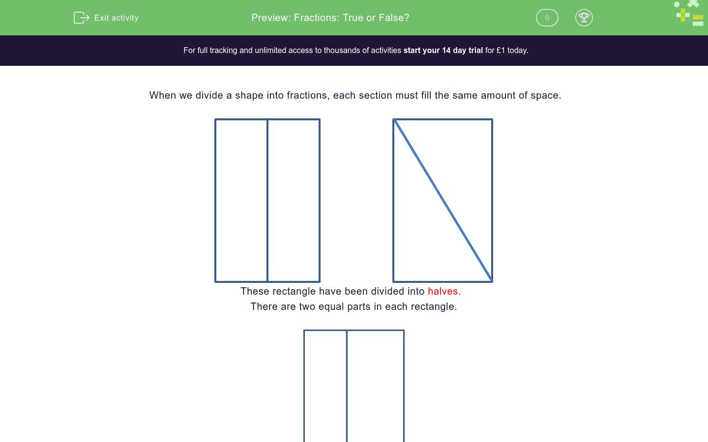 Fractions True Or False Worksheet