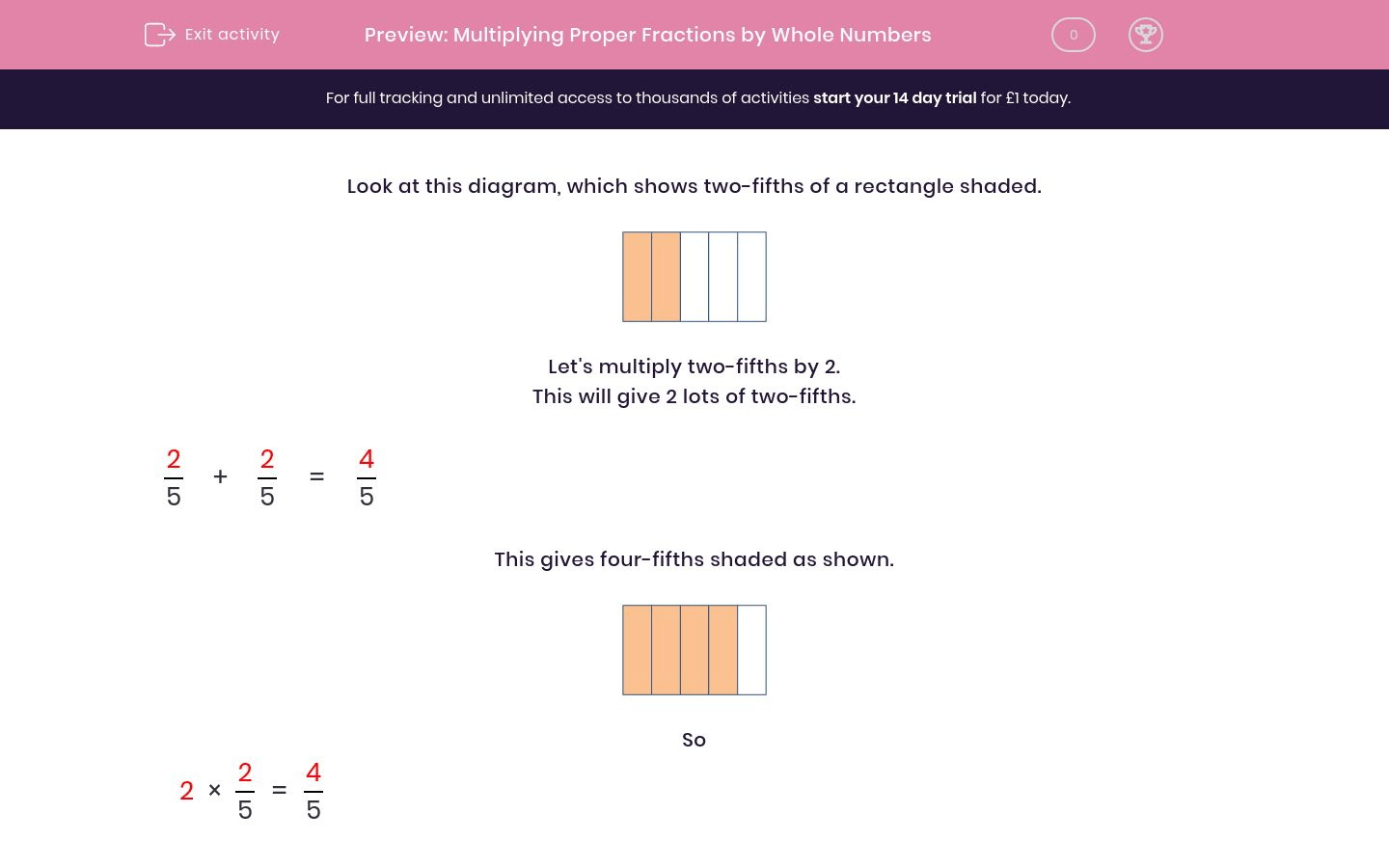 Multiplying Proper Fractions By Whole Numbers Worksheet
