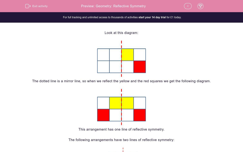 Geometry Reflective Symmetry Worksheet